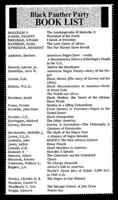 Black Panther Party book list