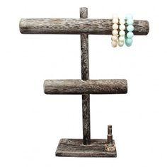 T-Bar Antique Color Wooden Bracelet Display