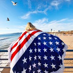 >> Click to Buy << Women Pashmina Summer New American Flag Printed Tassel Beach Towel Sun Production Shawl Leisure Casual Fashion Female Scarves #Affiliate