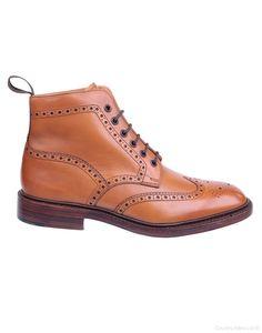 Loake Men's Burford Brogue Boots - Tan