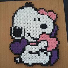 Snoopy hama beads by  perlerpupsi