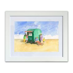 Ice Creams on the Beach • art prints from Seaside Emporium Kinds Of Colors, Colours, Small Caravans, British Beaches, Beach Art, Watercolor Paper, Seaside, Original Paintings, Coast