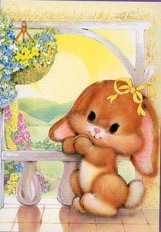Happy Birthday Baby, Bunny Rabbits, Watercolor Texture, Vintage Greeting Cards, Leprechaun, Mice, Cute Art, Cute Pictures, Fantasy Art