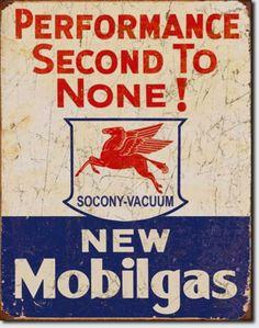Mobilgas Mobil Oil Gas Station Garage Metal Sign Tin New Vintage Style USA #1725