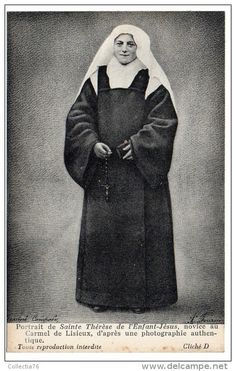 (via Julia Forster) St. Therese as a novice