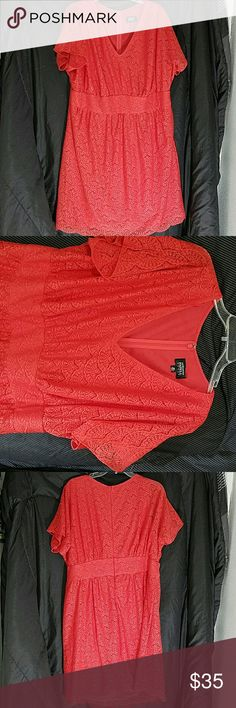 Adrianna Papell Lace Overlay Dress Bust 50 Length 40 This dress is excellent condition. Perfect plus size ladies dress for any special occasion. Adrianna Papell Dresses