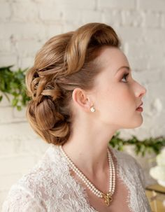 I LOVE the vintage styles. Especially since the wedding has a vintage theme being in the french quarter. Most are too structured for what I am ultimately thinking but I like a hint of vintage. LOVE the updo with the purple hair.