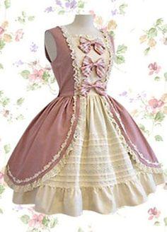 Sleeveless Bow Cotton Sweet Lolita Dress