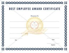Praise your coworker or employee that as done well with a employee download free or premium version no registrations instant download premium version has no award certificatescertificate templatesemployee yadclub Image collections