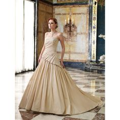 wedding dresses with color   ... Wedding Dresses in Color Champagne Yellow  Gold Wedding cd3c378b8c06