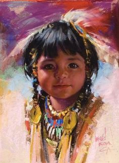 Image detail for -Harley Brown, International pastel artist : Lot 30 Native Child, Native American Children, Native American Pictures, Native American Indians, Native American Paintings, Indian Paintings, Arte Tribal, Pastel Portraits, Brown Art