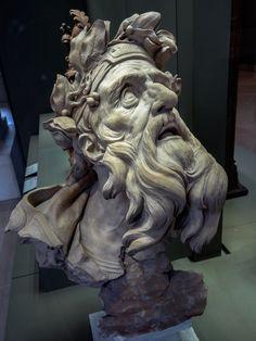 """""""Chrysès,"""" terracotta sculpture by Michel-Ange Slodtz, Musée du Louvre, Paris"""