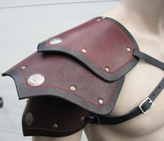 Segmented+leather+armor++single+shoulder+by+SharpMountainLeather,+$74.99