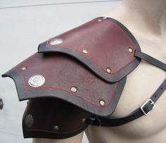 Segmented+leather+armor++single+shoulder+by+SharpMountainLeather,+$74.99