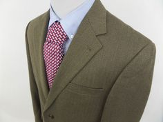Andrew Fezza Mens 42R Houndstooth 2 Button Blazer Jacket Sport Coat Brown #AndrewFezza #TwoButton