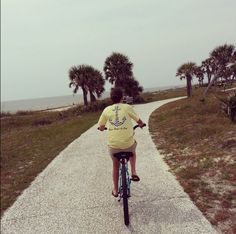 @southernstang33 and his wife enjoying a waterfront bike ride with their Southern Cross Apparel.