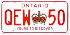 Vehicle License plate Ontario.  Yours to discover, [ca. 1980]