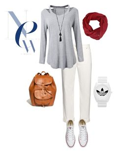 """Gray"" by shari-alwee on Polyvore featuring Balenciaga, Converse, Madewell, adidas and Isabel Marant"