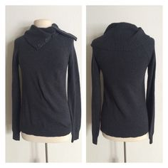 """GAP funnel neck sweater Absolutely adorable GAP charcoal sweater. Size M. 70% cotton/ 30% nylon. This is extremely soft and has great stretch. Very good- almost great used condition- there is some pilling, but the coloring of this makes it hard to see unless you're staring at it. Measures 26"""" long with a 34"""" bust (easily stretches well beyond that).  Bundle two or more  items for 5% off OR get one  item free for every $30 spent in my closet GAP Sweaters Cowl & Turtlenecks"""