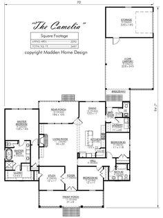 Width U003d 70u00270u201d X 94u00277u201d Deep. Living Area . Madden Home DesignBreezewayFloor  ...