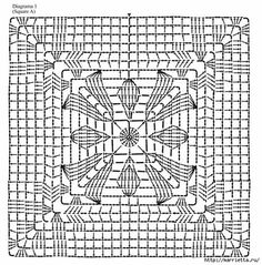 Very Beautiful Summer Blouse Crochet - Diy Crafts - hadido Crochet Bedspread Pattern, Crochet Motif Patterns, Granny Square Crochet Pattern, Crochet Blocks, Crochet Squares, Filet Crochet, Crochet Diy, Crochet Chart, Crochet Stitches