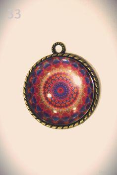 Mandala. Broche, colgante, pendientes y anillo