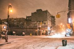 New York City - Snow - Hercules - Lower East Side - Rivington Street