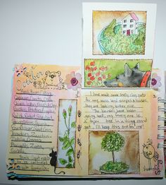 garden journal spring noted page 2 | by art by kim the Ink Cat