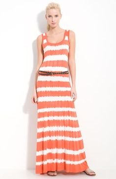 I am in LUV with this dress. It's Calvin Klein Tie Dye Maxi Dress from Nordstrom. AND... it's on sale! :)