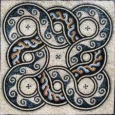 Marble Roman Mosaic Tile Design Pattern Artwork - August | Home & Garden, Home Décor, Tile Art | eBay!