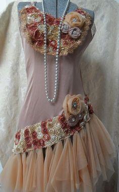 Flapper costume vintage slip makeover by pink purse on etsy