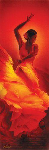 Flamenco Dancer, Art Slim Poster Print, 12 by 36-Inch by Pyramid America, http://www.amazon.com/dp/B00421A8GO/ref=cm_sw_r_pi_dp_szVPqb133NH14