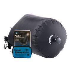 Bolsa de ducha de Sea to Summit con tela impermeable resistente al calor y con cierre de la tapa de rodillo.  http://www.daantienda.es/hydrapak/pocket-shower-ducha-10l-2632