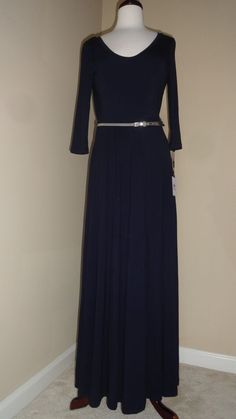 Sapphire Empire Gown
