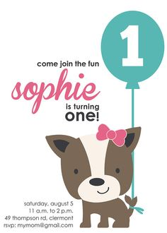 First birthday party coming up? Make it paws-itively perfect with a cute puppy theme! Cute from A to Z on Etsy