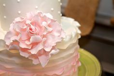 A Piece O' Cake Bakery, East Lansing, Michigan. Hawk Hollow vintage style wedding reception. Tammy Sue Allen Photography.