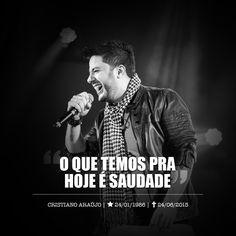 A música sertaneja amanheceu de luto! O cantor goiano Cristiano Araújo morreu nesta quarta-feira (24), vítima de um acidente de carro na BR-153,entre os municípios de Morrinhos e o Trevo de Pont...