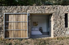 Architecture. Rustic House Design with Stones and Modern Glass ...