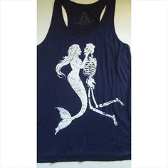 Mermaid & skeleton tank New Small 95% Rayon 35% Polyester  2 for $30 Tops Tank Tops