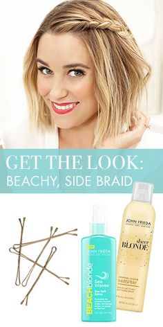 California girl, Lauren Conrad, shows how she takes her beachy waves from day to night using only JOHN FRIEDA® Beach Blonde™ Sea Waves™ Sea Salt Spray, JOHN FRIEDA® Sheer Blonde® Crystal Clear Hairspray + bobby pins.