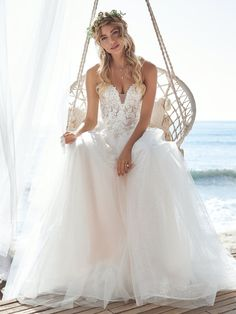 A wedding dress can be many things, and sometimes you just need it to be really pretty in a chic and simple way (under which we file this off-the-shoulder tulle ball gown in soft lace and flattering illusion). Mavis by Rebecca Ingram, is available at the Atlas Bridal Shop. Atlas Bridal Shop is a bridal & wedding dress shop in Toledo, Ohio. Dress designers include Morilee, Allure Bridal, Allure Couture, Maggie Sottero, Rebecca Ingram, Sottero Midgely, Jade, Montage, MGNY and more. Colored Wedding Dresses, Dream Wedding Dresses, Bridal Dresses, Wedding Gowns, Deb Dresses, Wedding Lace, Chic Wedding, Spring Wedding, Mermaid Wedding