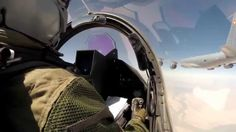 At the heart of the crew of a French Armée de l'Air C135 FR during a mission aerial refueling of two Rafale over Iraq, September 21, 2014 Credit: EMA / Air Force