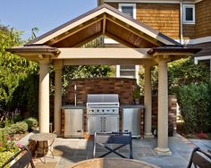 This outdoor area was designed by MacPherson Construction and Design of Sammamish, WA www.macphersonconstruction.com