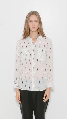 Equipment x Kate Moss Slim Signature Shirt   The Dreslyn