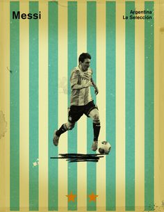 World Cup 2014 - Each Country's Fan Favourite by Jon Rogers, via Behance #soccer #poster #messi