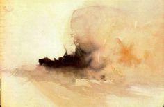 Burning ship, 1826 JMW Turner