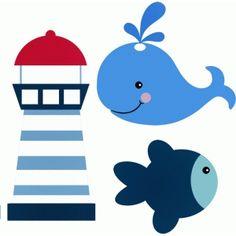 Silhouette Design Store - Ansicht Entwurf # 44821: Seemann Leuchtturm Fisch Wal
