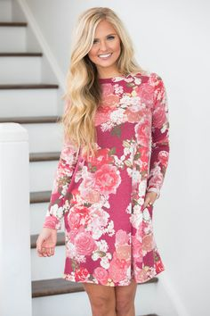 The Pink Lily - Share My Heart Floral Dress , $38.00 (https://pinklily.com/share-my-heart-floral-dress/)