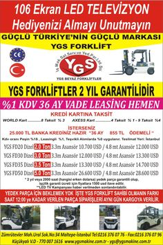 YGS Forklift in İstanbul, İstanbul