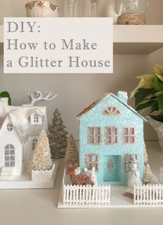 DIY Christmas Decoration, Glitter House, Christmas decor DIY, Christmas decorations, Christmas crafts, Michaels Christmas, Christmas DIY, #glitterhouses #DIY #DIYChristmasdecoration